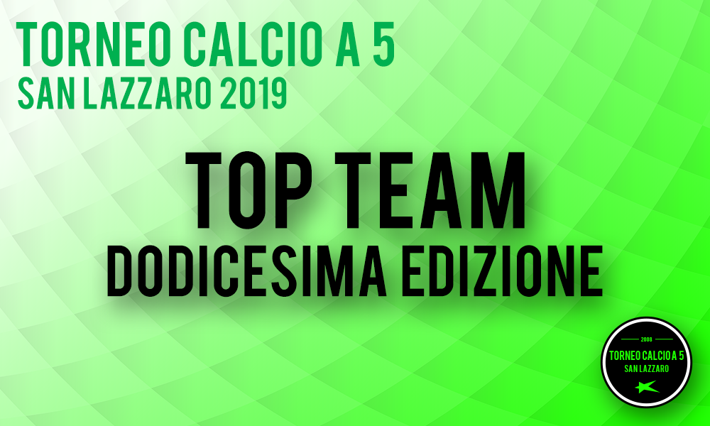 Top Team Complessivo 2019